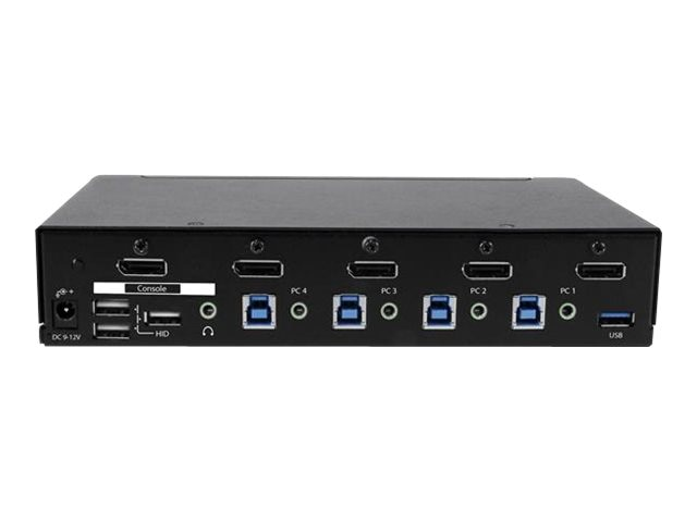 StarTech.com 4-Port DisplayPort KVM Switch, USB 3.0, 4K, SV431DPU3A2