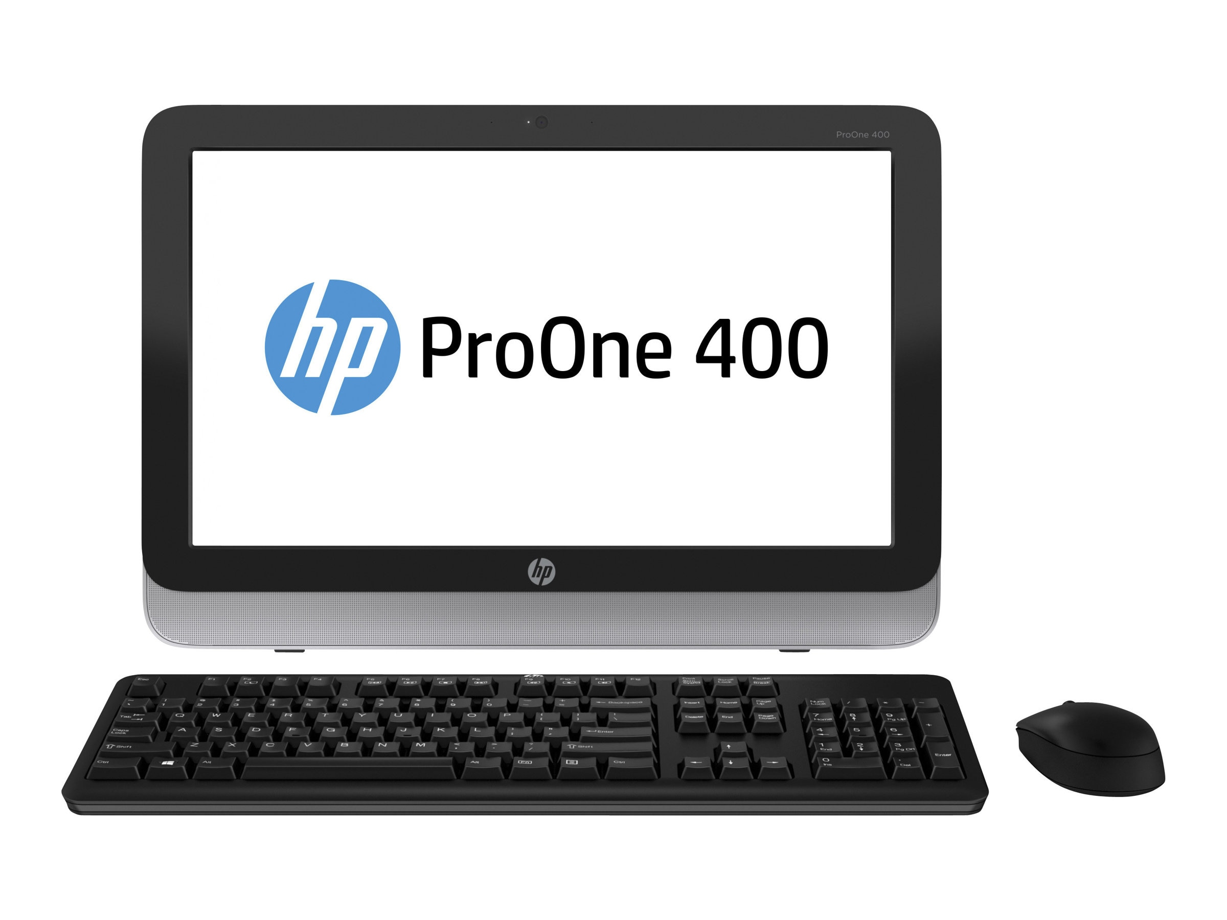 HP Smart Buy ProOne 400 G1 AIO Core i5-4590T 2.0GHz 4GB 500GB DVD+RW GbE abgn BT WC 19.5 HD W7P64-W10P, P0D21UT#ABA, 28184892, Desktops - All-in-One