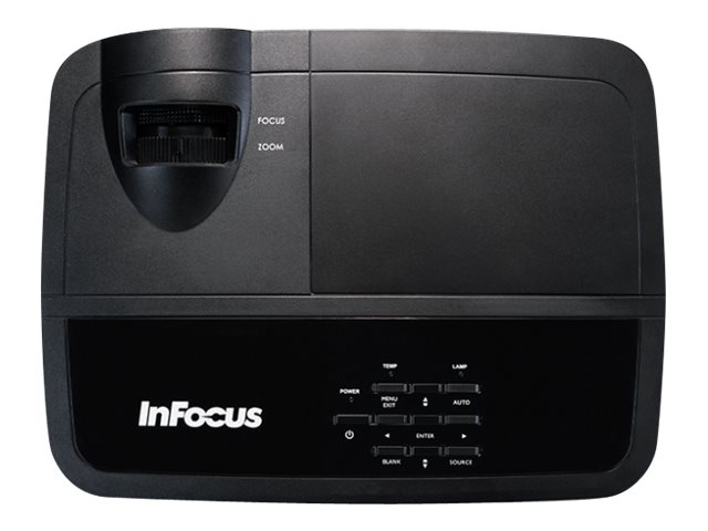 InFocus IN124X XGA 3D DLP Projector, 4000 Lumens, Black, IN124X