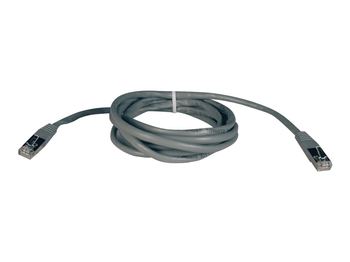 Tripp Lite Cat5e 350MHz Shielded Patch Cable, Gray, 7ft