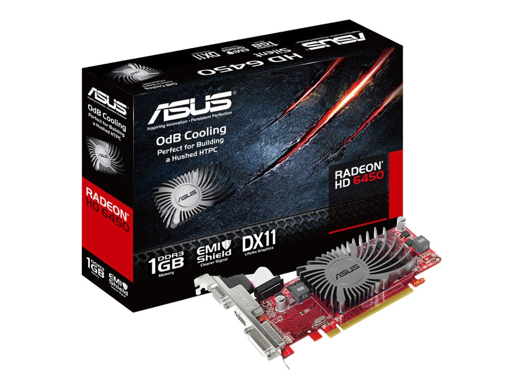 Asus Radeon HD 6450 Low-Profile PCIe 2.1 Graphics Card, 1GB DDR3