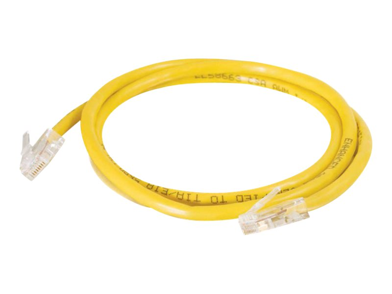 C2G Cat5e Non-Booted Unshielded (UTP) Network Patch Cable - Yellow, 15ft