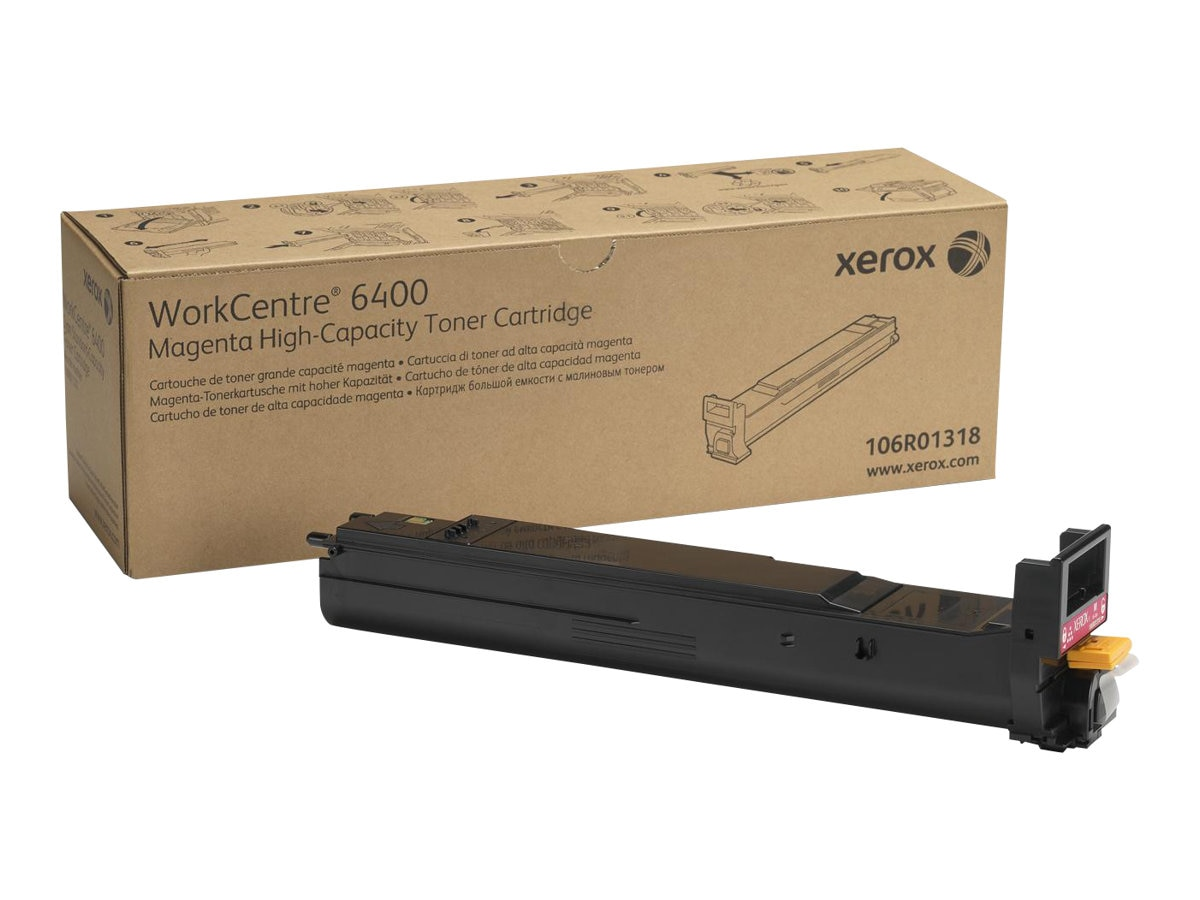Xerox Magenta High Capacity Toner Cartridge for WorkCentre 6400, 106R01318
