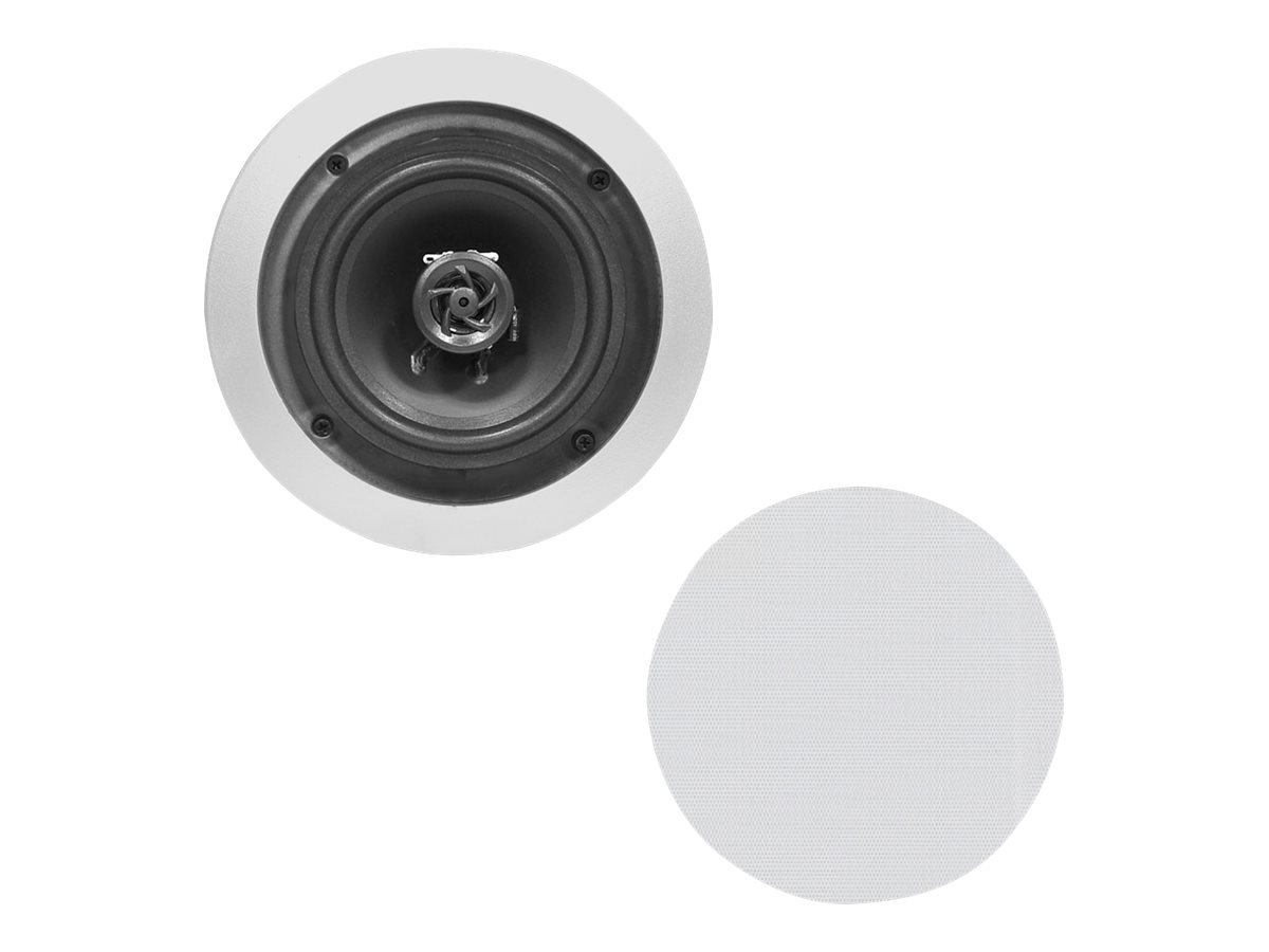 Pyle 5.25 Two-Way In-Ceiling Speaker System (Pair) - Silver, PDIC51RDSL
