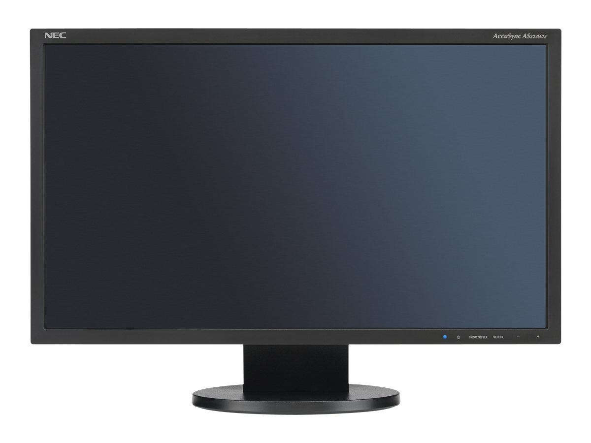 NEC 21.5 AS222WM-BK LED-LCD Full HD Monitor with Speakers, Black, AS222WM-BK, 16218768, Monitors - LED-LCD