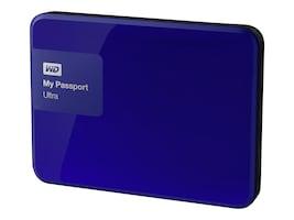 WD 1TB My Passport Ultra Portable Hard Drive - Blue, WDBGPU0010BBL-NESN, 21089139, Hard Drives - External