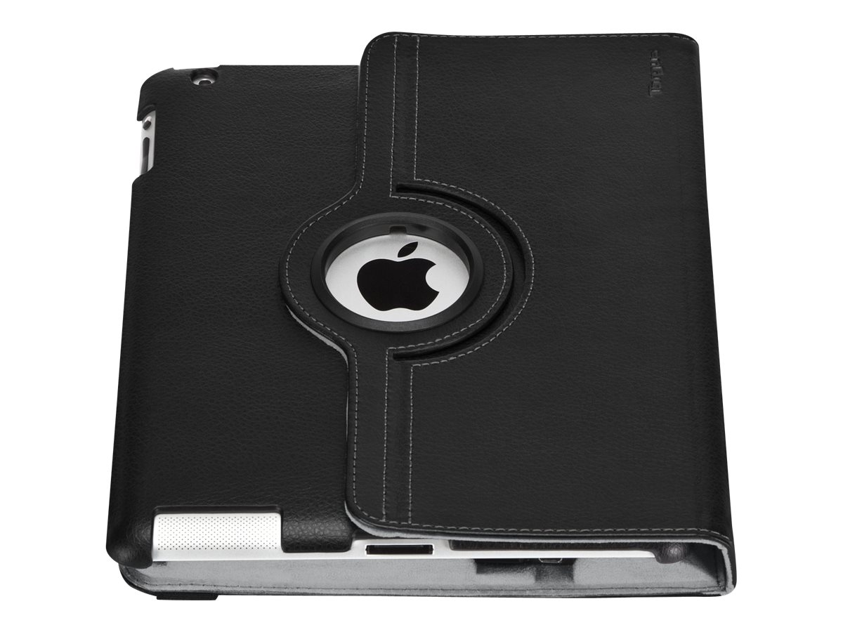 Targus Versavu Rotating Keyboard Case & Stand for iPad 3, iPad 4, Black, THZ17101US