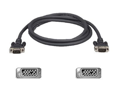 Belkin Pro Series High Integrity VGA SVGA Monitor Replacement Cable, 6ft, F3H982-06, 148897, Cables
