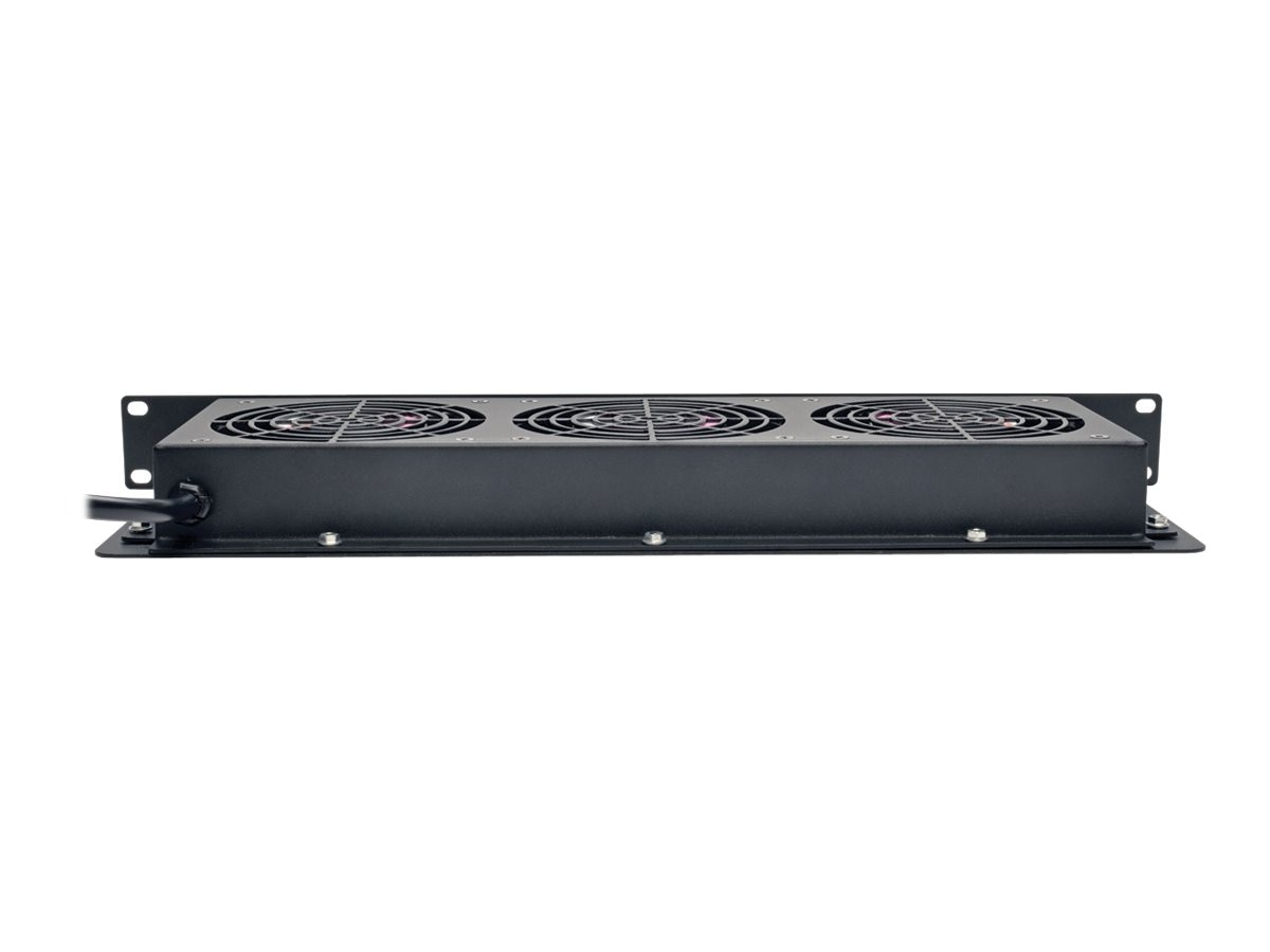 Tripp Lite SmartRack 1U Fan Tray, 3 120V High-Performance Fans, 210 CFM, 5-15P Plug, SRFAN1U