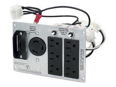 APC Backplate Kit (1) L5-20R, (2) 5-20R,  (4) 5-15R Outlets for SUA 2200VA, 3000VA 3U 5U Models, SUA029RM, 7200419, Battery Backup Accessories