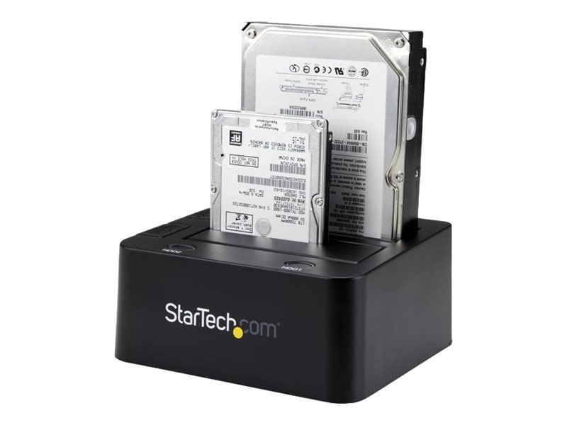 StarTech.com USB 3.0 Dual Hard Drive Dock Station w  UASP for SATA 6Gb s 2.5 3.5 Solid State Drives Hard Drives, SDOCK2U33