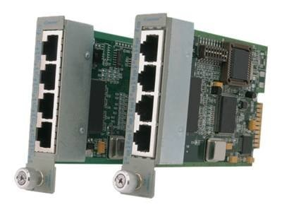 Omnitron iConverter 4Tx VT Switch 4-ports, Managed Plug-in Module, 8481-4-W, 14484333, Network Switches