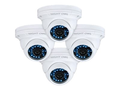 Night Owl 900TVL Hi-Resolution Security Camera with 75ft Night Vision, 4-Pack