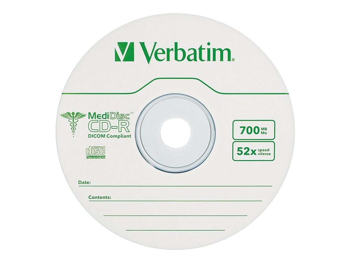 Verbatim 52x 700MB 80min. Medidisc Thermal CD-R Disc, 94736
