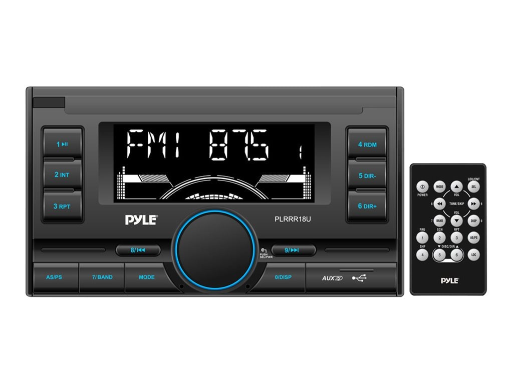 Pyle AM FM USB SD AUX In Remote Control Digital Receiver, PLRRR18U, 17436329, Stereo Components