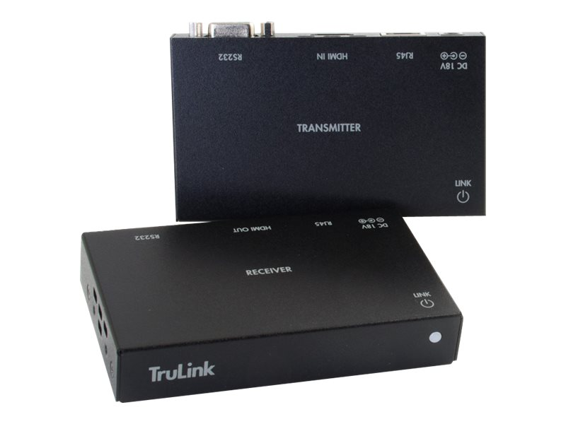 C2G TruLink HDMI + Serial RS232 over Cat5 Extender Box Transmitter to Box Receiver Kit