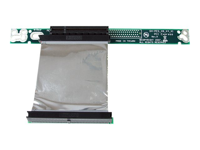 StarTech.com PCI Express Riser Card x8 Left Slot Adapter 1U with Flexible Cable, PEX8RISERF
