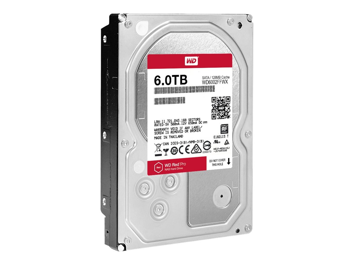 WD 6TB WD Red Pro SATA 6Gb s 3.5 Internal Hard Drive, WD6002FFWX
