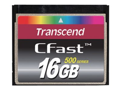 Transcend 16GB CFast Card, TS16GCFX500, 13096515, Memory - Flash