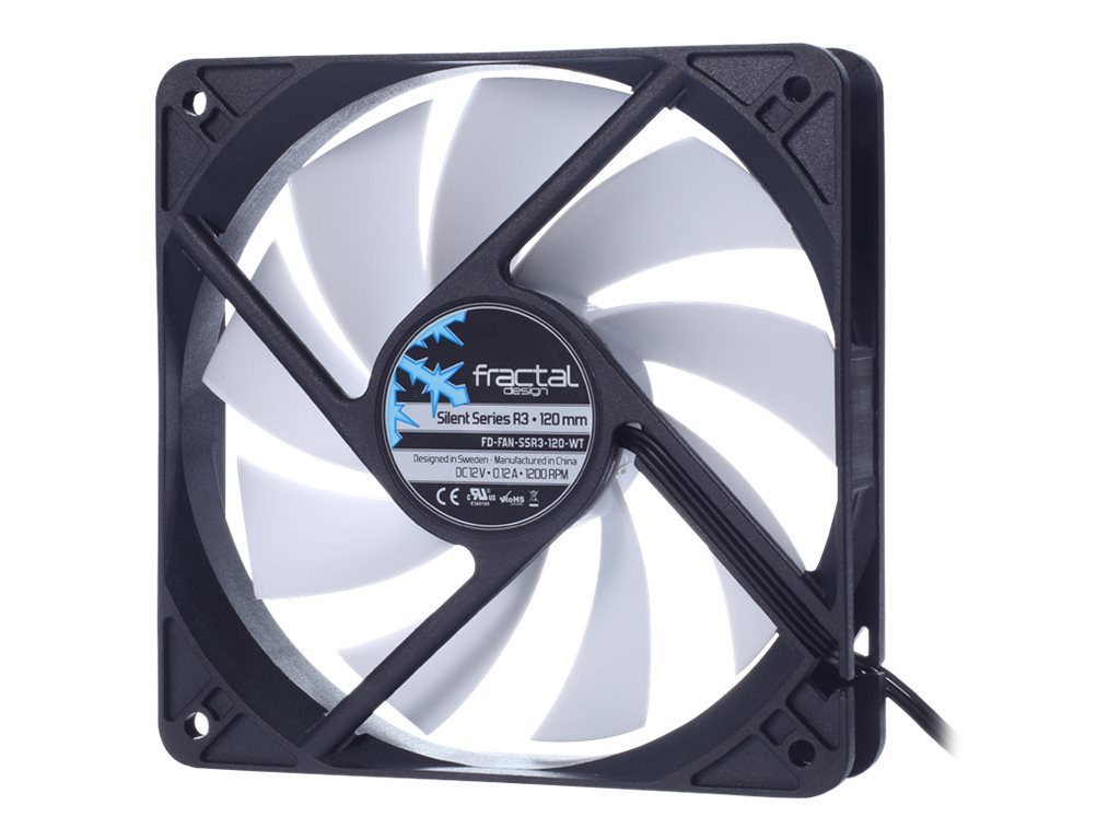 Fractal Design Silent Series R3 120mm Fan, FD-FAN-SSR3-120-WT