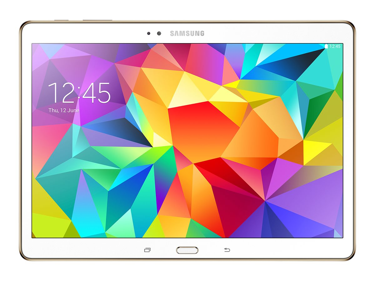 Scratch & Dent Samsung Galaxy Tab S Exynos 5 Octa 1.3GHz 3GB 16GB Flash abgn ac BT FR 2xWC 10.5 WQXGA Android 4.4, White