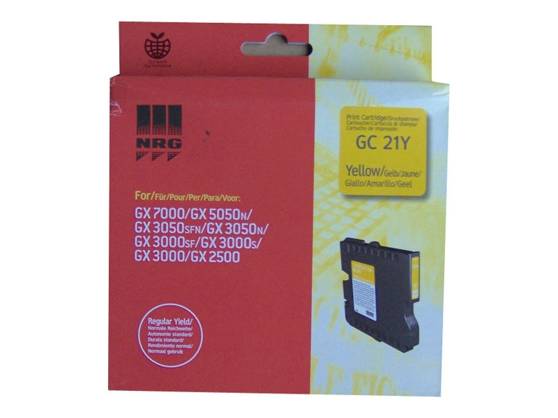 Ricoh Yellow Toner Cartridge for GX3000, GX3050N & GX5050N Printers, 405535, 7458225, Toner and Imaging Components