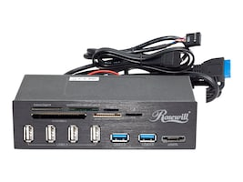Rosewill 5.25 Internal Card Reader with USB 3.0 Connector, RDCR-11004, 16235082, PC Card/Flash Memory Readers