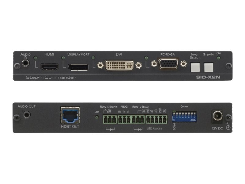 Kramer 4-Input Multi-Format Video over HDBaseT Transmitter and Step-In Commander, SID-X2N