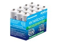Panasonic eneloop AAA 2100-Cycle NiMH Pre-Charged Rechargeable Batteries (12-pack), BK-4MCCA12SA, 17786610, Batteries - Other