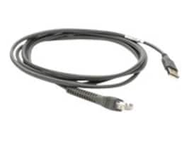 Zebra Symbol Straight USB Cable For Handheld Scanners, 7ft, CBA-U01-S07ZAR, 6567690, Cables