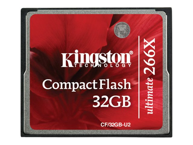 Kingston 32GB Ultimate CompactFlash Memory Card with Recovery Software, CF/32GB-U2, 10716125, Memory - Flash