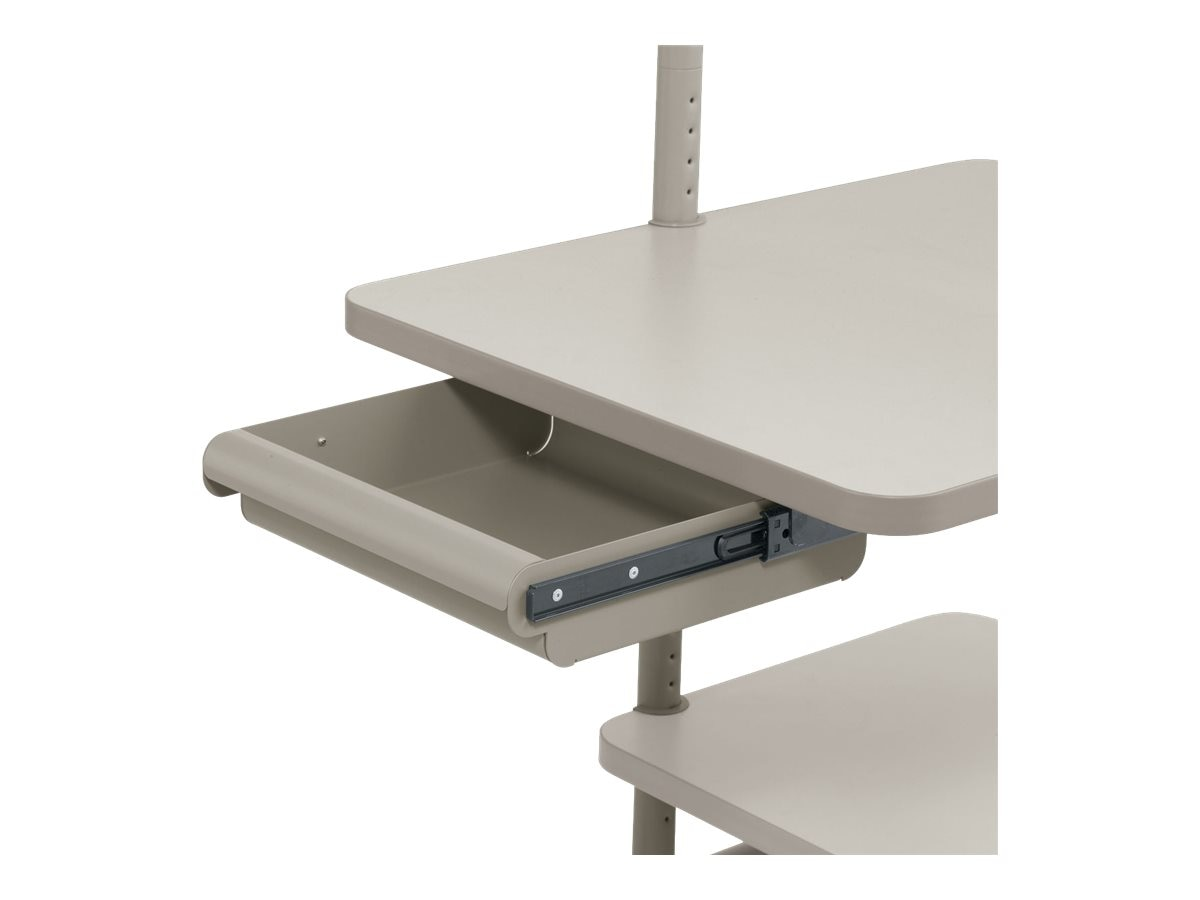 Ergotron Small 3 High Drawer, Cool Gray
