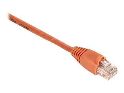 Black Box GigaBase 350MHz CAT5E Snagless Booted Patch Cable, Orange, 10ft