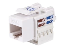 StarTech.com 110 Punch Type Cat6 Keystone Jack, White, C6KEY110WH, 11591184, Premise Wiring Equipment