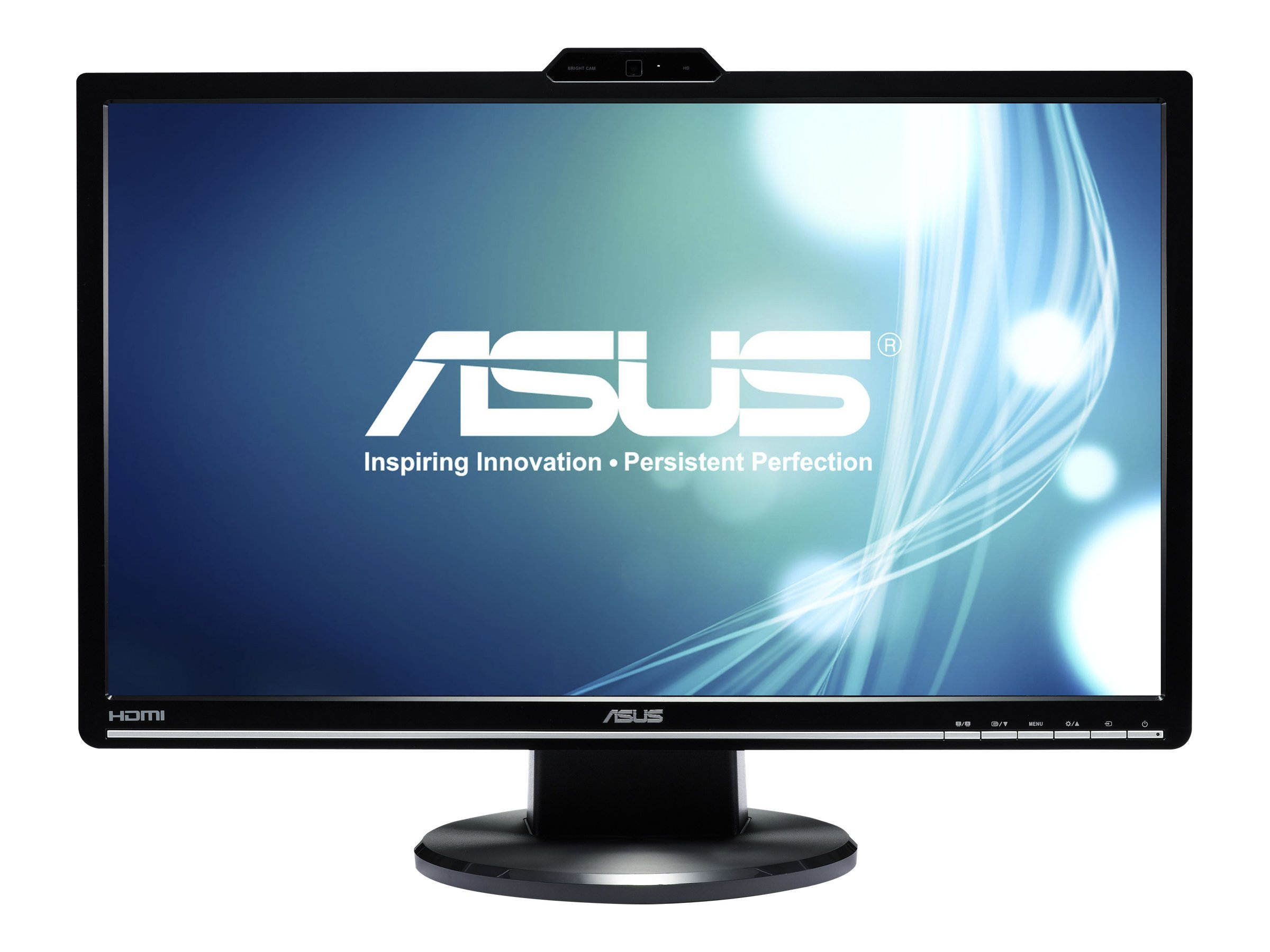 Asus 24 VK248H-CSM Full HD LED-LCD Monitor with Webcam, Black