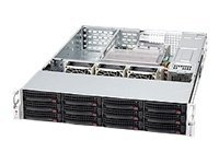 Supermicro 2U Chassis, 12x3.5 HS Drive Trays, 1200W PSU, Black, CSE-826E16-R1200UB, 11860954, Cases - Systems/Servers