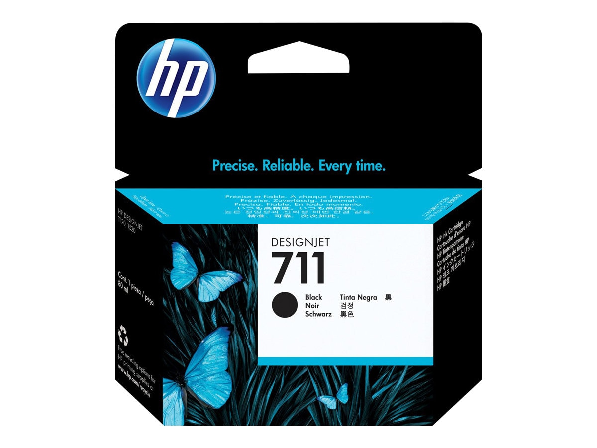 HP 711 80-ml Black Ink Cartridge, CZ133A