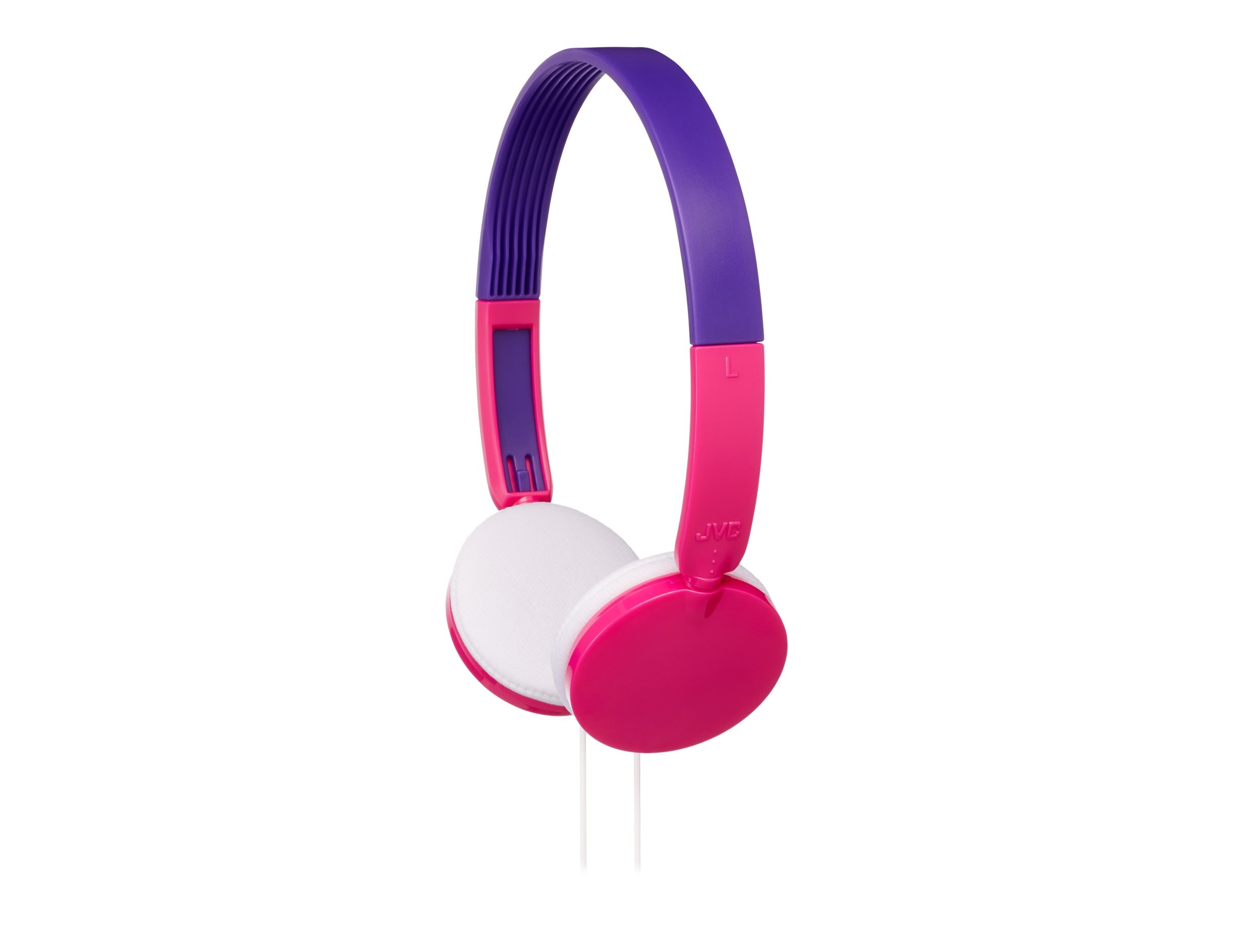 JVC Child Safe Volume Limiting Over Ear Headphones - Pink, HAKD3P