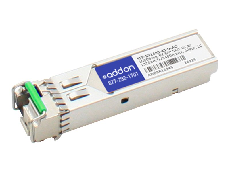 ACP-EP SFP 40KM BX 1-GIG BIDI DOM LC TAA Transceiver (Zyxel SFP-BX1490-40-D Compatible)
