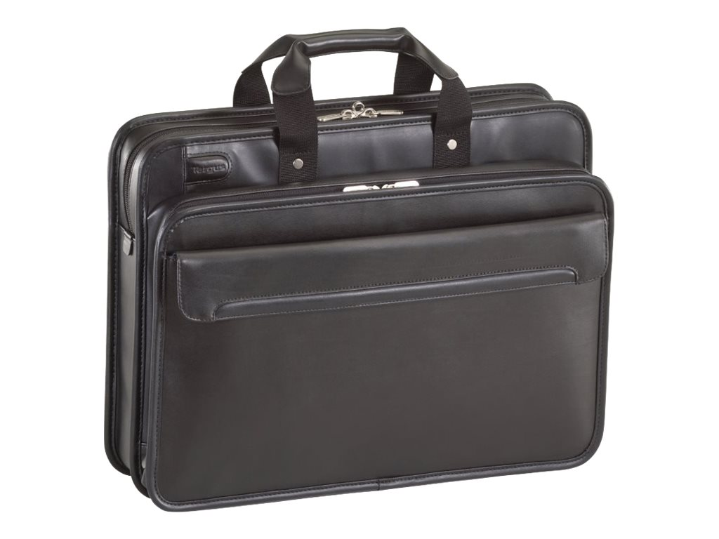 "Targus Commuter 16"" Leather Laptop Case, Black, TET027US, 10159904, Carrying Cases - Notebook"