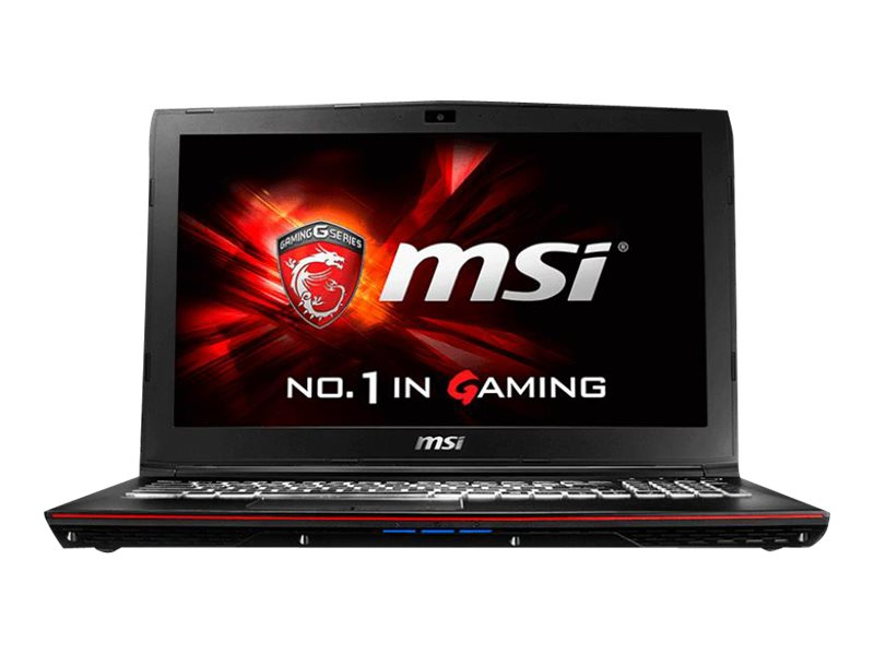 MSI GP62 Leopard Pro-870 Core i7-6700HQ 2.6GHz 16GB 256GB SSD DVD SM BT WC 6C 15.6 FHD W10, 9S7-16J522-870