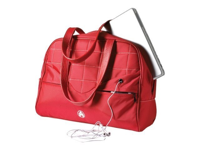 Mobile Edge Sumo Womens Laptop 15 Purse, Red with White Stitching, ME-SUMO99157, 10757533, Carrying Cases - Notebook