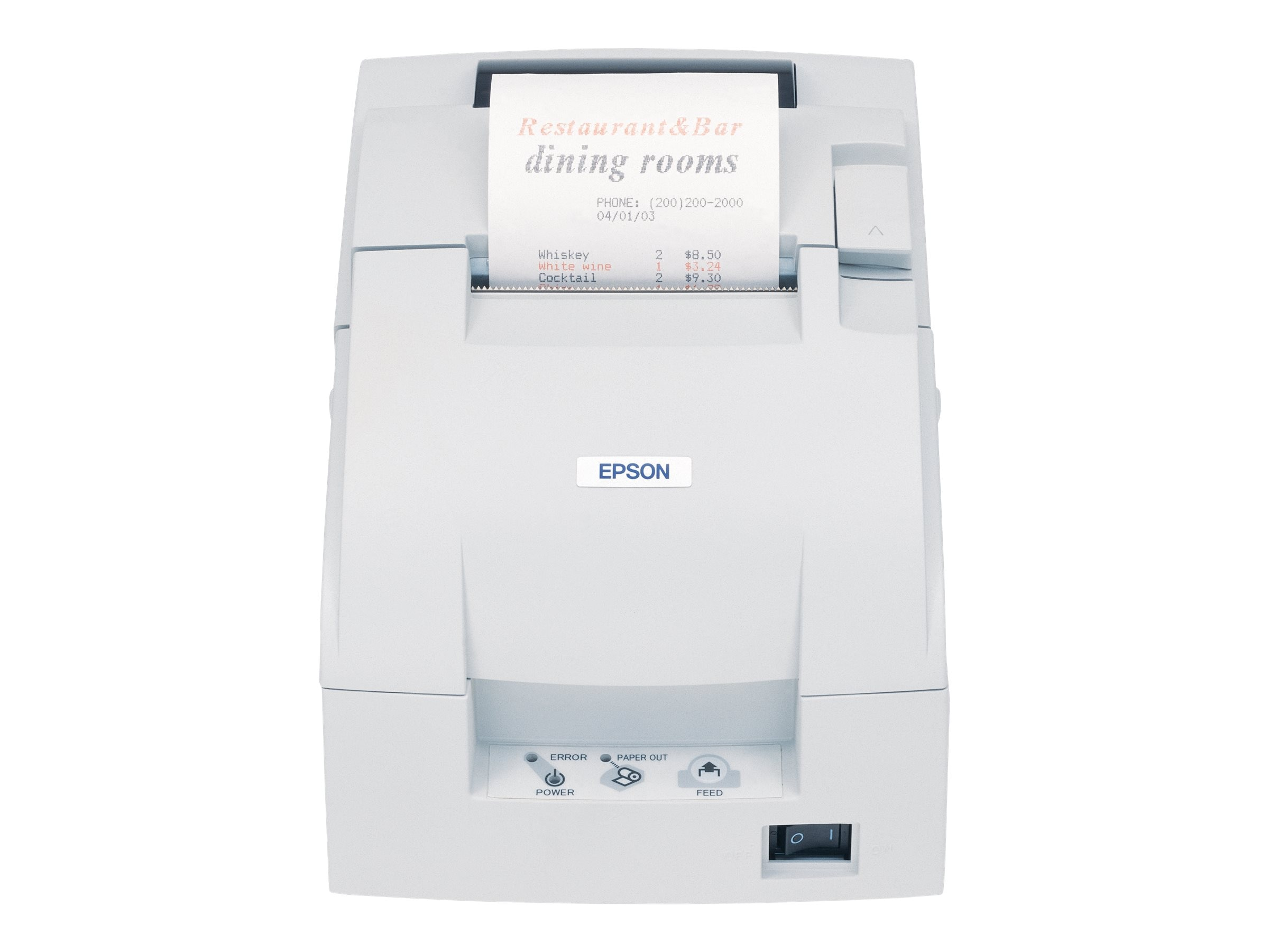 Epson TM-U220D Parallel Receipt Printer - White, C31C518603