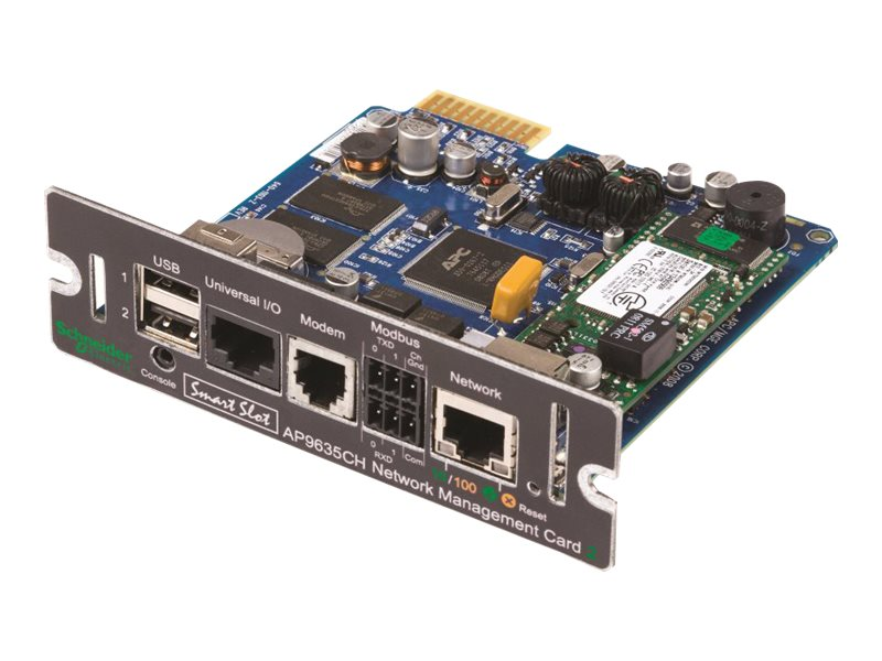 APC UPS Network Management Card 2, Environment Monitoring, Out of Band Access, Modbus, AP9635CH, 13496746, Battery Backup Accessories