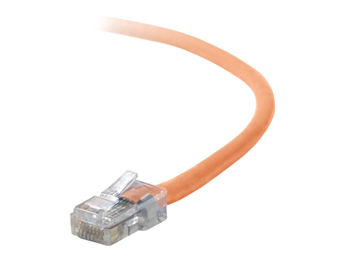 Belkin Cat5e Non-Booted UTP Patch Cable, Orange, 7ft