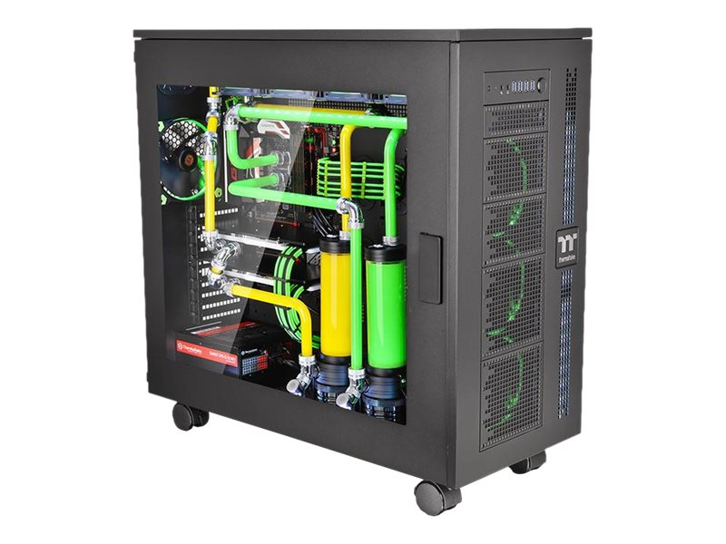 Thermaltake Chassis, Core W100 Super Tower E-ATX 10x3.5 Bays 10xSlots Window, Black, CA-1F2-00F1WN-00, 31776186, Cases - Systems/Servers