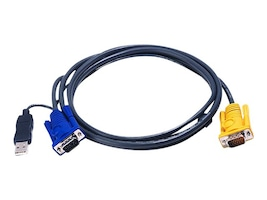 Aten PS 2 to USB Intelligent KVM Cable, 6ft, 2L5202UP, 6030121, Cables