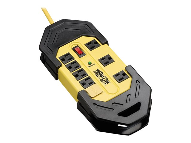 Tripp Lite Protect It Safety Surge Protector (8) Outlets OSHA Yellow 25ft. Cord 3900 Joules, TLM825SA, 8033309, Surge Suppressors