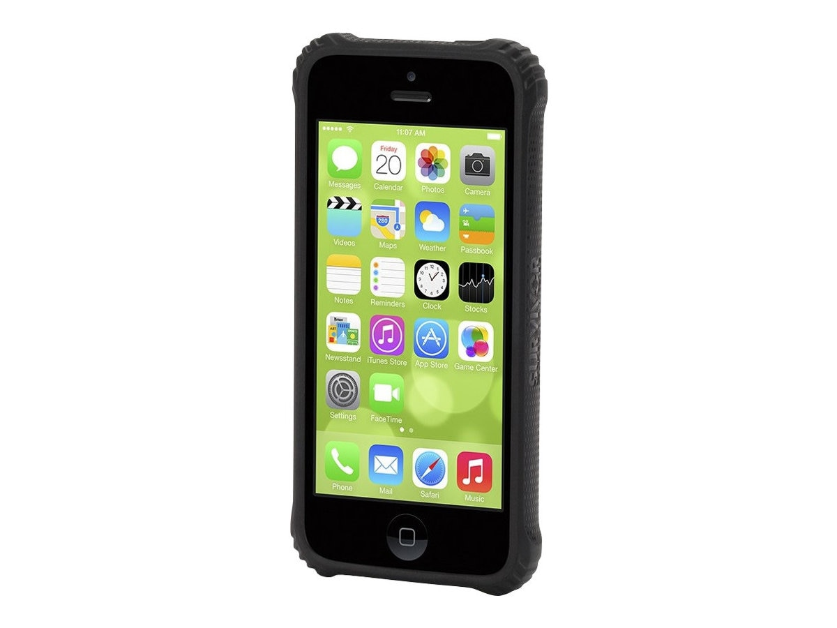 Griffin Survivor Core for iPhone 5c, Black Clear