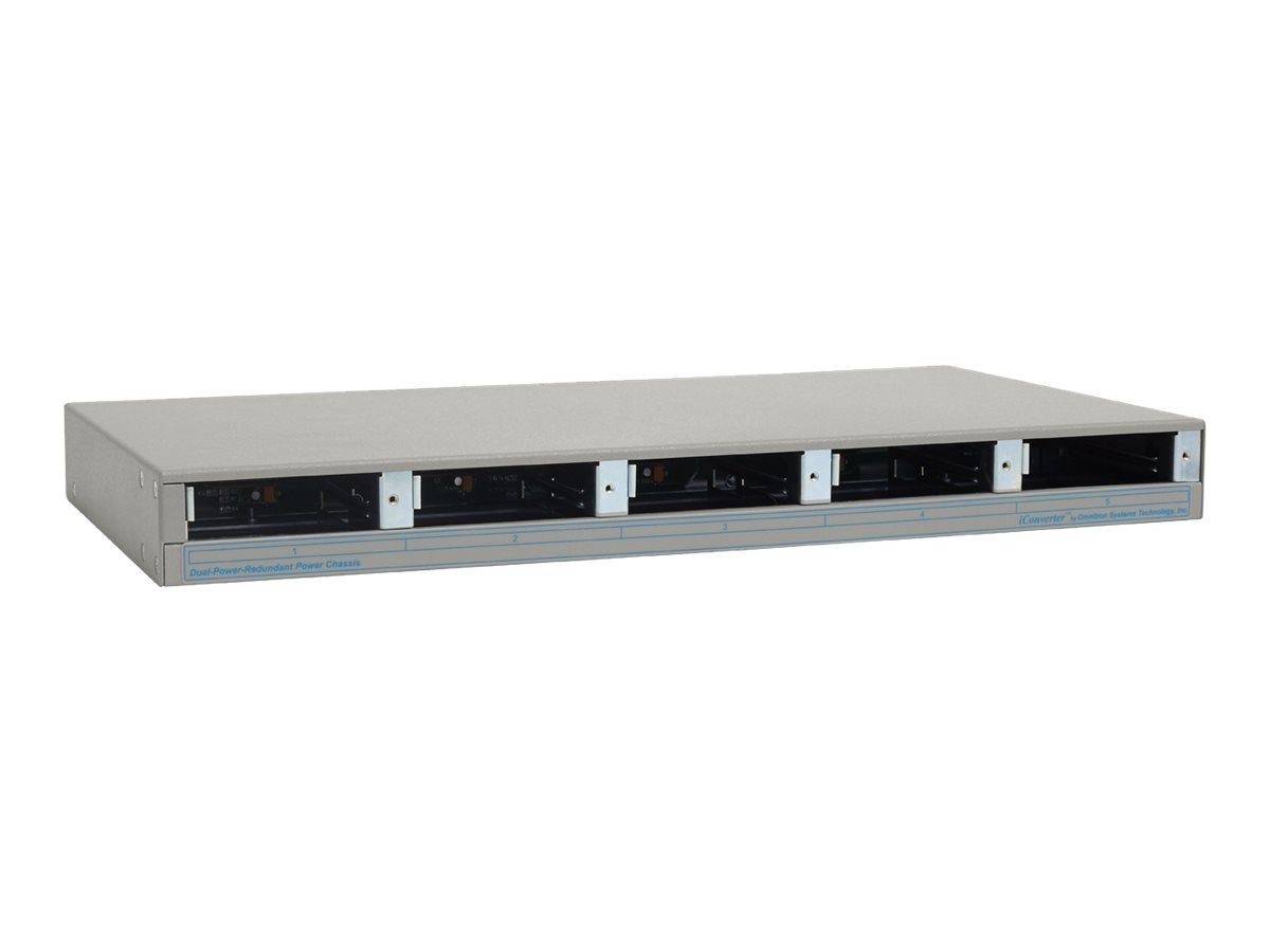 Omnitron iConverter 5-Module AC Power Chassis, Single PS (8220-1), 8220-1, 4833616, Network Transceivers